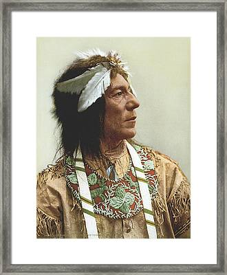 Obtossaway, An Ojibwa Chief Framed Print by Underwood Archives