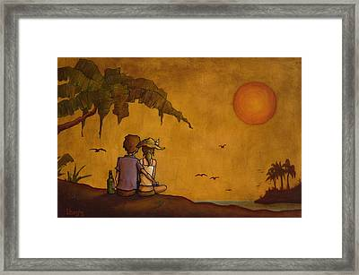 Obvious Romance Framed Print by Bryan Ubaghs