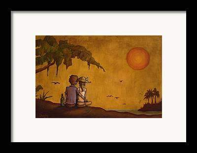 Sunset Framed Prints