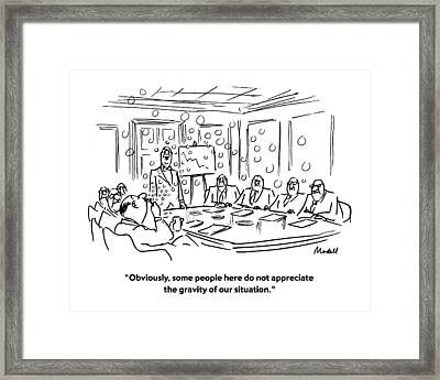 Obviously, Some People Here Do Not Appreciate Framed Print by Frank Modell