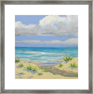 Obx Dune Framed Print by Anne Marie Brown