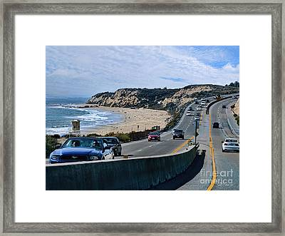 Oc On Pch In Ca Framed Print