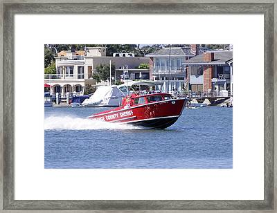Oc Sheriff Harbor Patrol Fire Fighter Framed Print by Shoal Hollingsworth