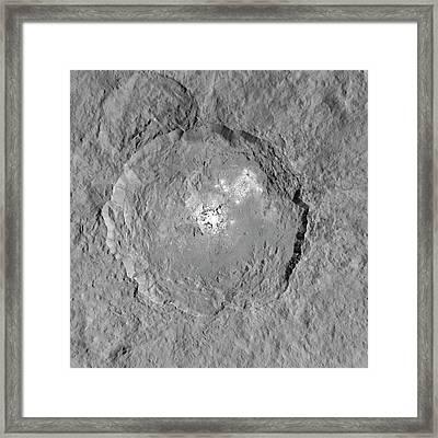 Occator Crater Framed Print by Nasa/jpl-caltech/ucla/mps/dlr/ida