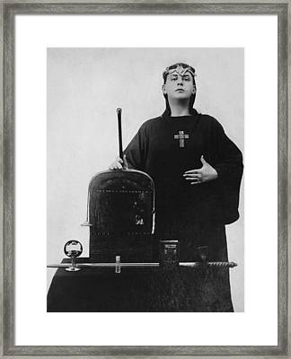 Occultist Aleister Crowley Framed Print