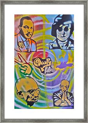 Occupy 4 Peace Framed Print