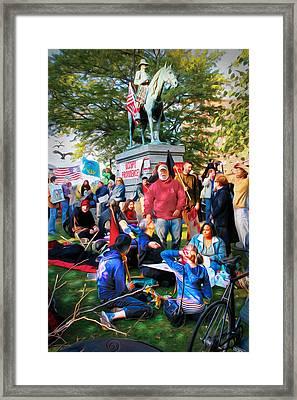 Occupy Burnside Framed Print by Richard Trahan