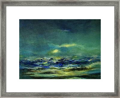 Ocean 1 Framed Print by Julianne Felton