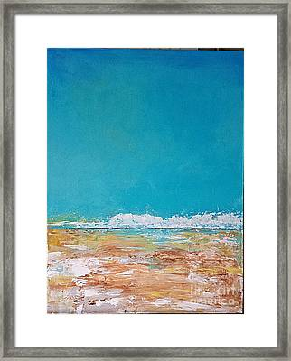 Framed Print featuring the painting Ocean 2 by Diana Bursztein
