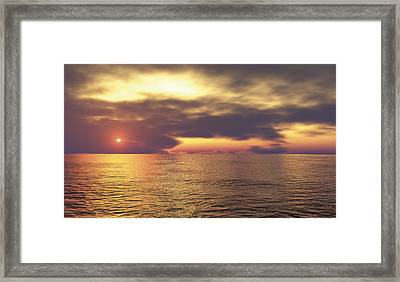 Framed Print featuring the digital art Ocean 2 by Mark Greenberg