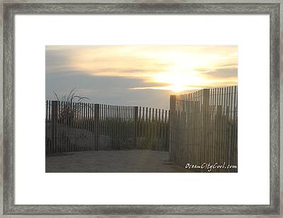 Framed Print featuring the photograph Ocean Access At Sunrise by Robert Banach