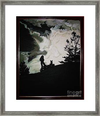 Ocean And I Framed Print