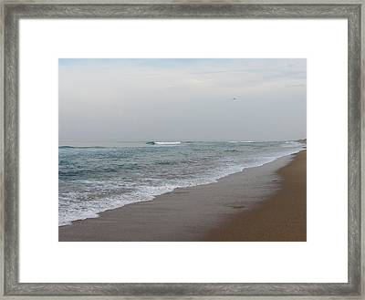 Framed Print featuring the photograph Ocean At Buxton Nc 4 by Cathy Lindsey