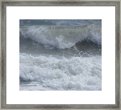 Framed Print featuring the photograph Ocean At Kill Devil Hills by Cathy Lindsey
