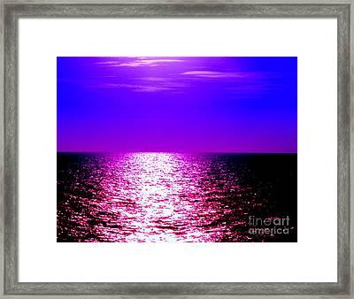 Ocean At Night IIi Framed Print