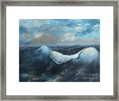 Ocean At Sunset Framed Print