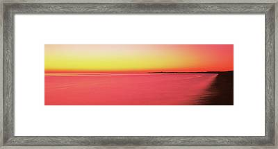 Ocean At Sunset, Provincetown, Cape Framed Print by Panoramic Images
