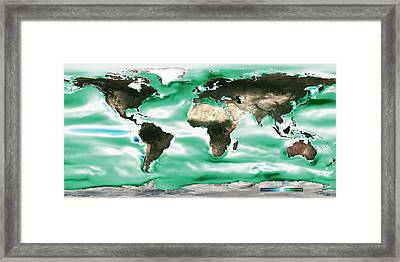 Ocean-atmosphere Co2 Exchange Framed Print