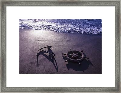 Ocean Beach Anchor Framed Print
