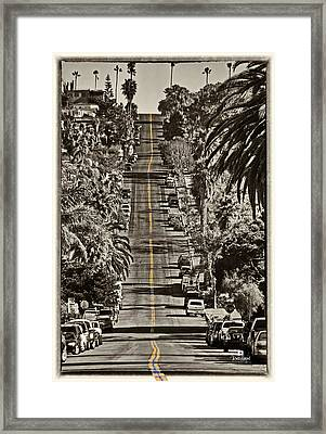 Ocean Beach Asphalt Surfin - Santa Cruz Ave Framed Print