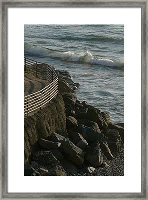 Ocean Beach Boat Ramp Framed Print
