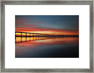 Ocean Beach California Pier 3 Framed Print by Larry Marshall