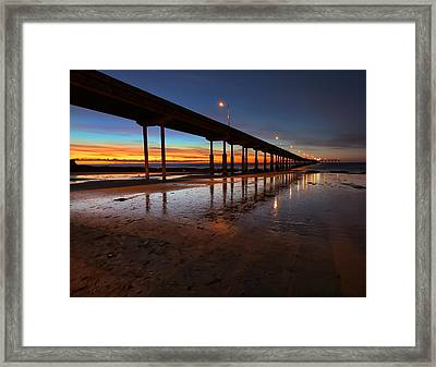 Ocean Beach California Pier 4 Framed Print by Larry Marshall