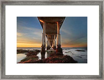 Ocean Beach California Pier Framed Print by Larry Marshall