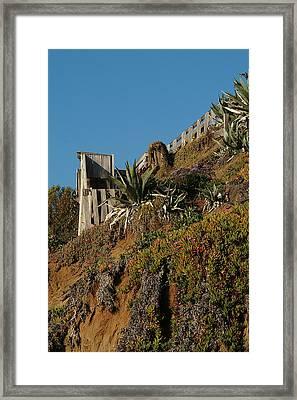 Ocean Beach Hillside Framed Print