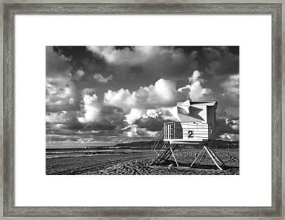 Ocean Beach Lifeguard Tower Framed Print by Nathan Rupert