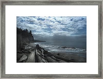 Ocean Beach Pacific Northwest Framed Print by Yulia Kazansky