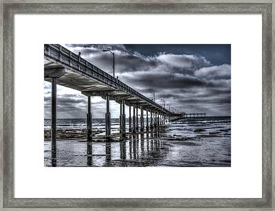 Ocean Beach Pier Framed Print by Photographic Art by Russel Ray Photos