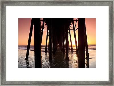 Oceanside Pier Tunnel Framed Print by Sean Davey