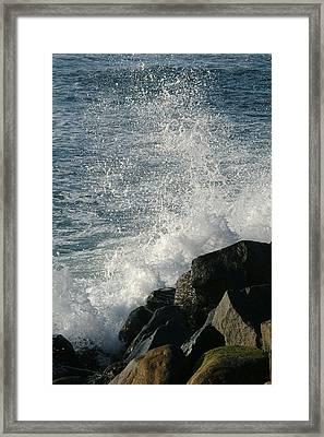 Ocean Beach Splash 1 Framed Print