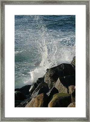 Ocean Beach Splash 2 Framed Print