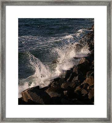 Ocean Beach Splash 3 Framed Print