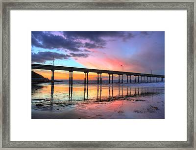 Ocean Beach Sunset Framed Print