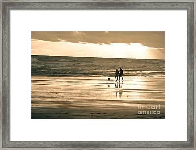Ocean Beach Walk Framed Print by Yurix Sardinelly