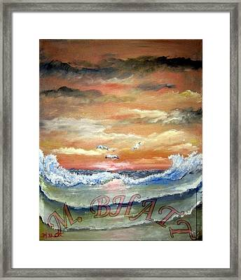 Ocean Beauty Framed Print by M Bhatt