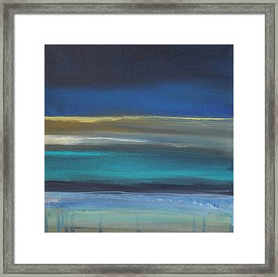 Ocean Blue 2 Framed Print by Linda Woods