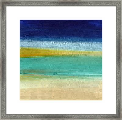 Ocean Blue 3- Art By Linda Woods Framed Print by Linda Woods