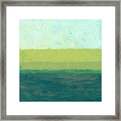 Ocean Blue And Green Framed Print by Michelle Calkins