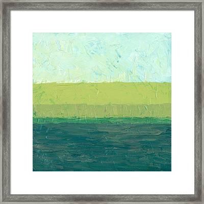 Ocean Blue And Green Framed Print