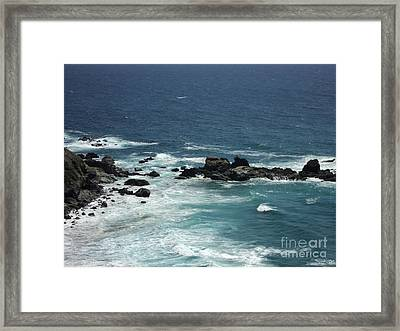 Ocean Blue Framed Print by Carla Carson