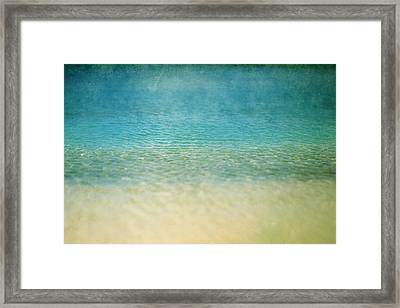 Framed Print featuring the photograph Ocean Blue by Heather Green