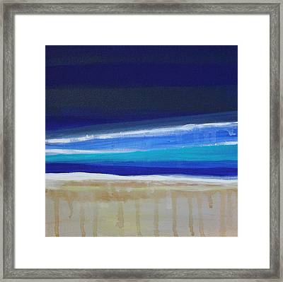 Ocean Blue Framed Print by Linda Woods