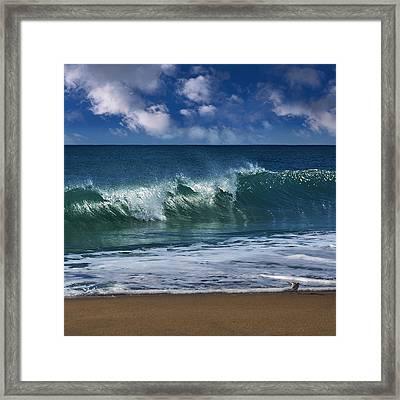 Ocean Blue Morning 2 Framed Print