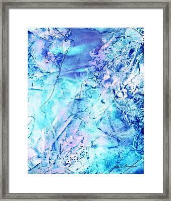 Ocean Bottom Framed Print by Rosie Brown