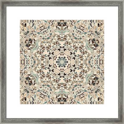 Ocean Breeze 51c02 - Mandala Framed Print