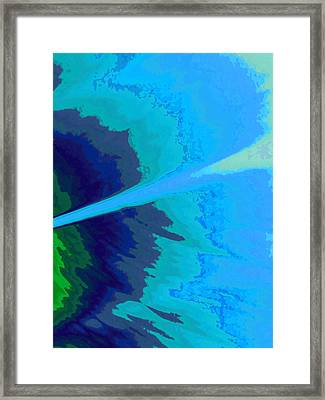 Ocean Breeze-abstract Framed Print by Tom Druin